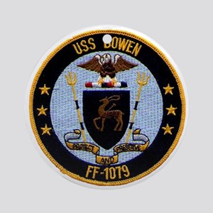 uss bowen ff patch transparent Round Ornament
