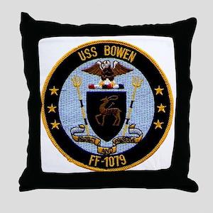 uss bowen ff patch transparent Throw Pillow