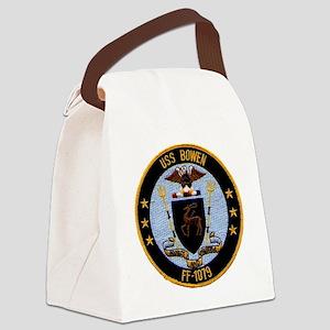 uss bowen ff patch transparent Canvas Lunch Bag