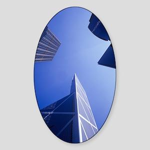 Skyscrapers Sticker (Oval)