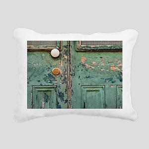 Peeling Paint on a Door Rectangular Canvas Pillow