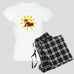 Shiba Sun iPad 2 White Women's Light Pajamas