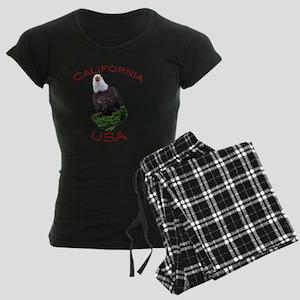 California, USA...Screaming  Women's Dark Pajamas
