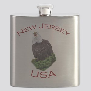 New Jersey, USA...Screaming Bald Eagle Flask