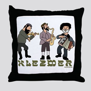 Klezmer Musicians Throw Pillow