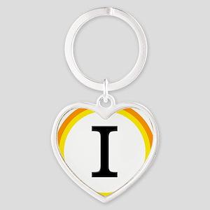 Monogrammed Halloween Trick Or Trea Heart Keychain