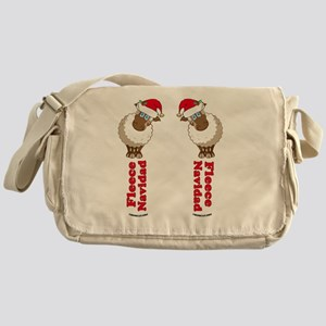 FleeceFlipFlopsWhite-b Messenger Bag