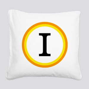Monogrammed Halloween Trick O Square Canvas Pillow