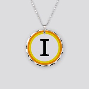 Monogrammed Halloween Trick  Necklace Circle Charm