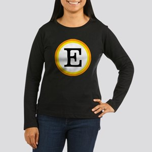 Monogrammed Hallo Women's Long Sleeve Dark T-Shirt