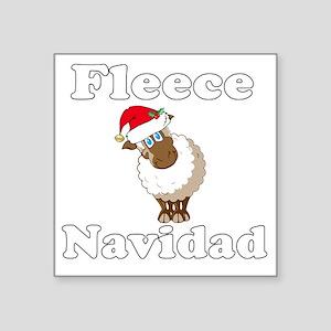"Fleece18x18whiteTRANS Square Sticker 3"" x 3"""