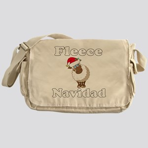 Fleece18x18whiteTRANS Messenger Bag