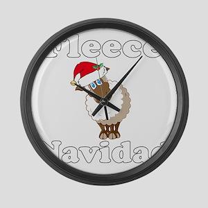 Fleece18x18whiteTRANS Large Wall Clock