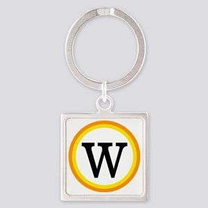 Monogrammed Halloween Trick Or Tre Square Keychain