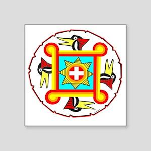 "SOUTHEAST INDIAN DESIGN Square Sticker 3"" x 3"""