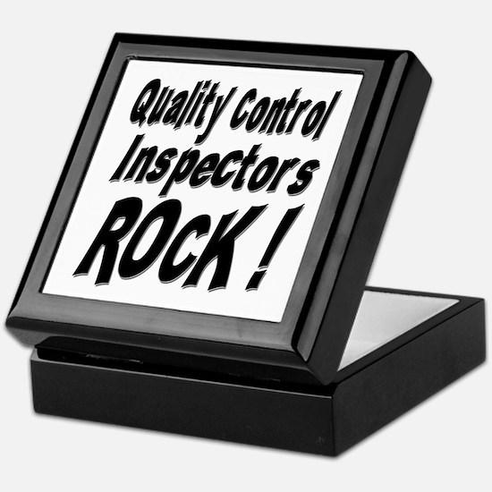 QC Inspectors Rock ! Keepsake Box