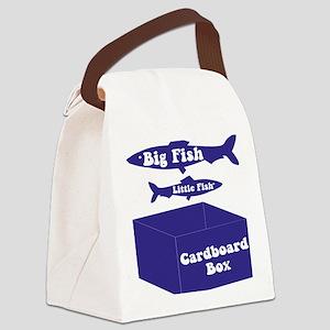 Big Fish Navy Canvas Lunch Bag