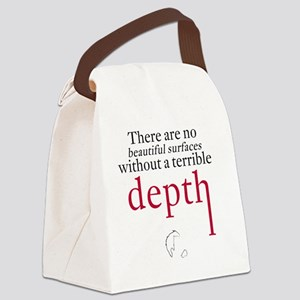 Nietzsche Quote - Beautiful Surfa Canvas Lunch Bag