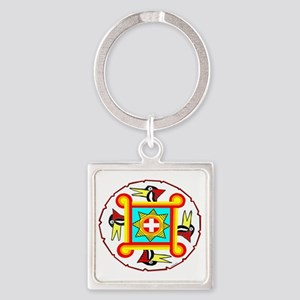 SOUTHEAST INDIAN DESIGN Square Keychain