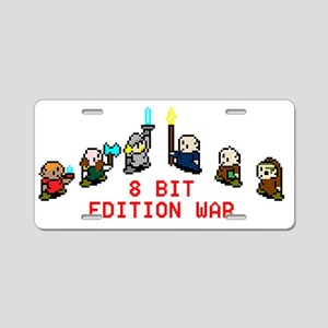 8-Bit Edition War Aluminum License Plate