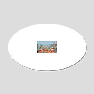 beach_bag1 20x12 Oval Wall Decal