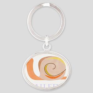 Snailed It Oval Keychain
