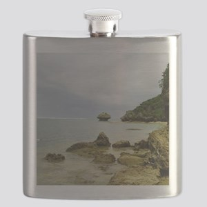 Typhoon coming, Okinawa, Japan Flask