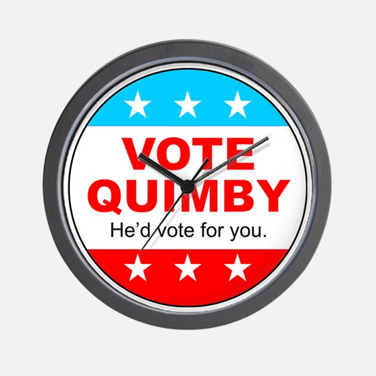 Vote Quimby Wall Clock