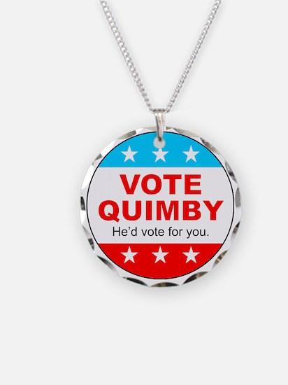 Vote Quimby Necklace