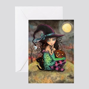 Halloween Hill Greeting Card