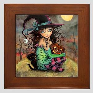Halloween Hill Framed Tile