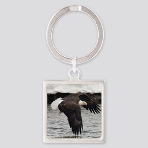 Eagle, Fish in Talons Square Keychain