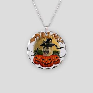 Happy Halloween Shepherd Necklace Circle Charm