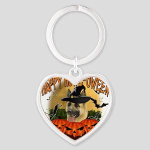 Happy Halloween Shepherd Heart Keychain