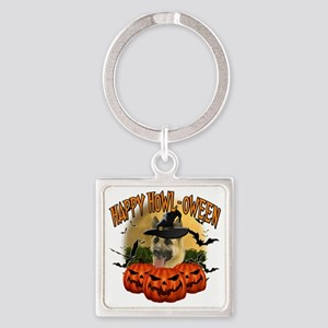Happy Halloween Shepherd Square Keychain