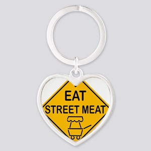 I Eat Street Meat Heart Keychain