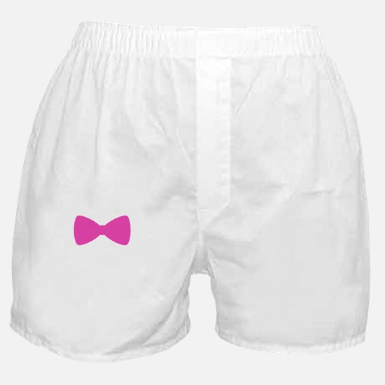 Bow Tie Pink Boxer Shorts