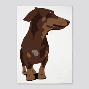 Dachshund frontal view 5'x7'Area Rug