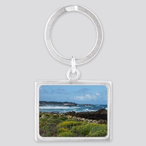 Monterey Coastal Blooms Landscape Keychain