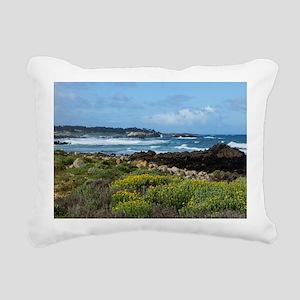 Monterey Coastal Blooms Rectangular Canvas Pillow