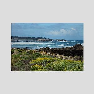 Monterey Coastal Blooms Rectangle Magnet