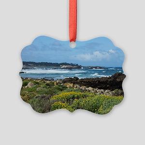 Monterey Coastal Blooms Picture Ornament