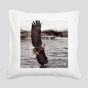 Striking Eagle Square Canvas Pillow