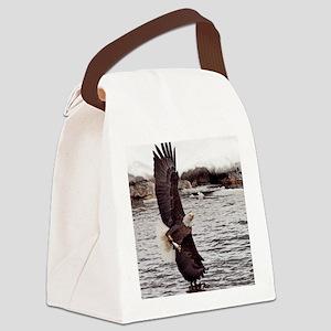 Striking Eagle Canvas Lunch Bag