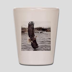 Striking Eagle Shot Glass