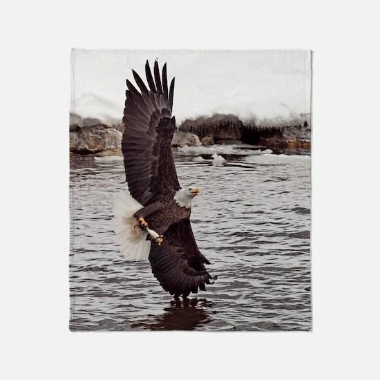 Striking Eagle Throw Blanket