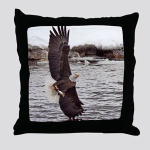 Striking Eagle Throw Pillow
