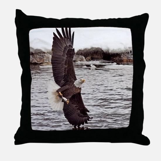 Striking Eagle Throw Pillow