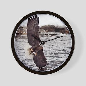 Striking Eagle Wall Clock