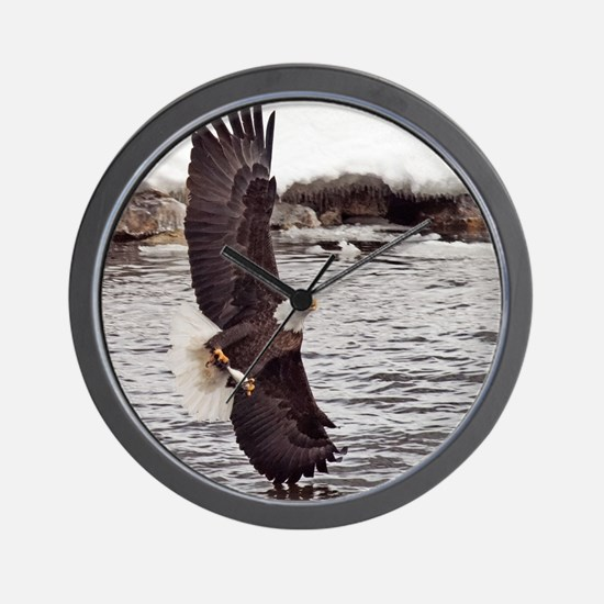 Striking Eagle Wall Clock